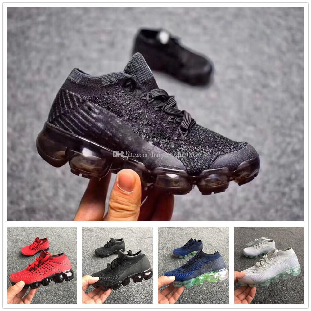 more photos 71733 16e3a nike air max vapormax airmax 2018 hotsale Rainbow boys girls Vapor Shock  Kids Running Shoes Cojín de aire informal Flair Slip-On Calzado deportivo  ...