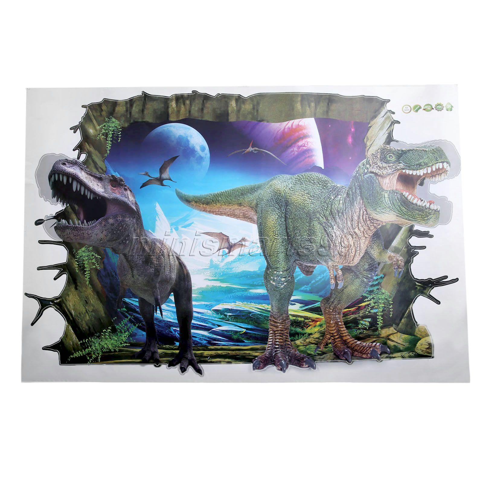Wall Stickers for Kids Rooms of Movie Decals Jurassic Park Dinosaur Cartoon Wall Decoration Arts Wallpaper Home Decor