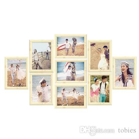 Frame Collage Picture Photo Frame Set Wall Hanging Family Photo Frames  Cadre Photo Moderne Wedding Home Decor Gift Wall Sticker