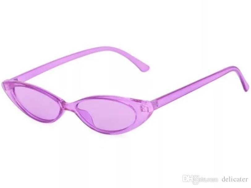 Purple Frames Purple Lenses European Styles Little Glasses Cool ...