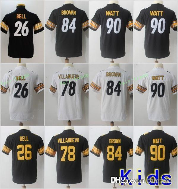 6625c66ea62 new arrivals youth pittsburgh 90 t j watt jerseys 84 antonio 8c8da 473b4