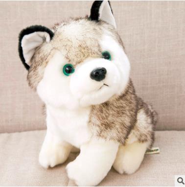 Cute Dog Simulation Husky Doll Plush Toy Doll Dog Baby Doll Birthday