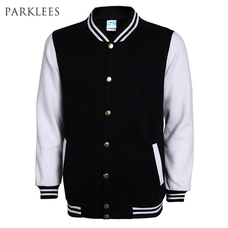 bc04f68ce5adf New High School Baseball Jacket Men Veste Homme 2016 Autumn Mens Fashion  Slim Cotton Varsity Jackets Casual Brand College Jacket Coat Jacket Mens  Leather ...