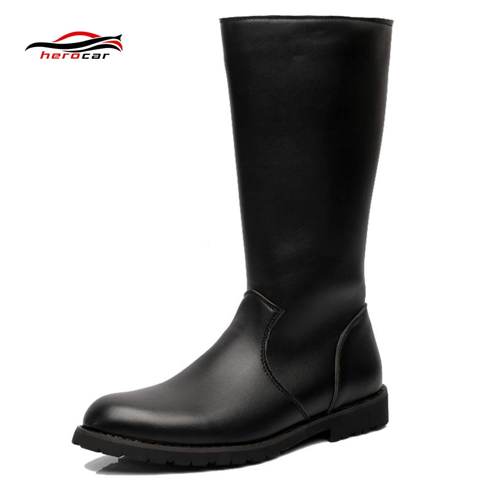 Motorcycle Boots Mens Motorbike Boots Moto Punk Retro Artificial
