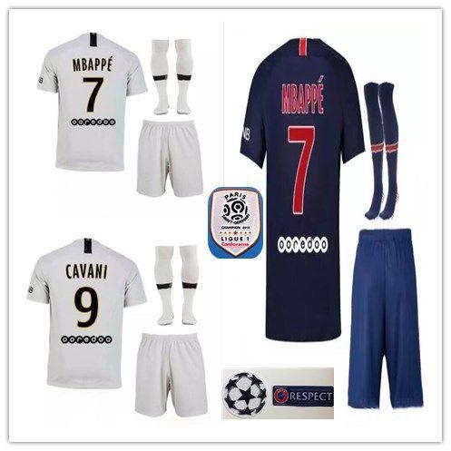 02c04d188 18-19 MBAPPE Soccer Jersey 2018 2019 Adult Kits+socks CAVANI DI ...
