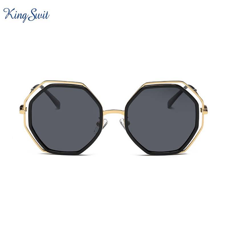 9fbbb7a4b38 KingSwit 2018 New Round Sunglasses For Men   Women Vintage Pearl ...