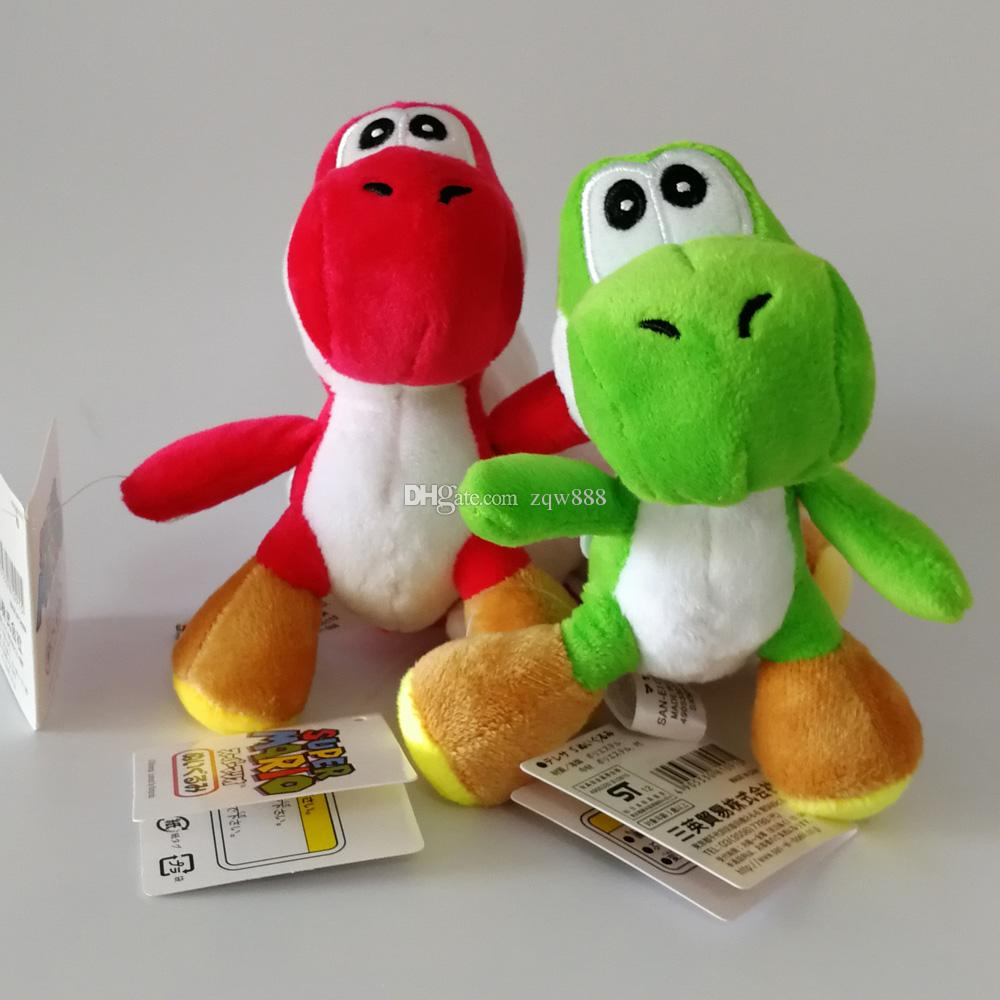 """High Quality 100% Cotton 4"""" 10cm Super Mario Bros Yoshi Plush Doll Stuffed Animals Toy For Child Holiday Gifts"""
