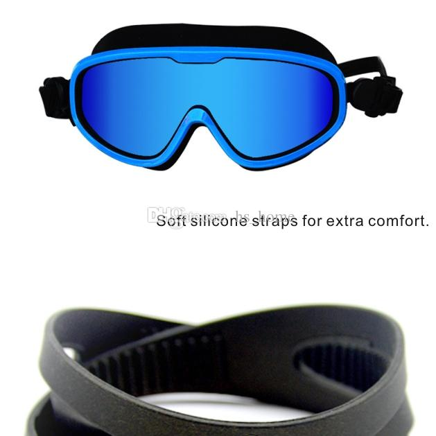 Büyük gözlük çerçevesi Yüzücü gözlükleri Suya Dayanıklı Anti-sis ve UV yüzme gözlüğü Unisex Çoğu insan için uygun 8 renk.