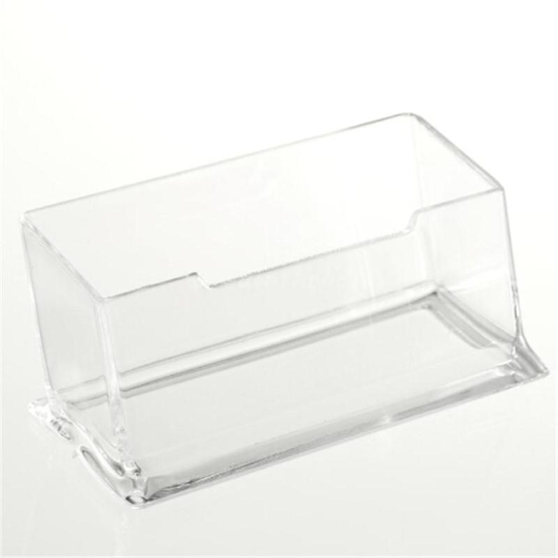 Display Stand Acrylic Plastic New Clear Desktop Business Card Holder Desk Shelf Box Storage Drop