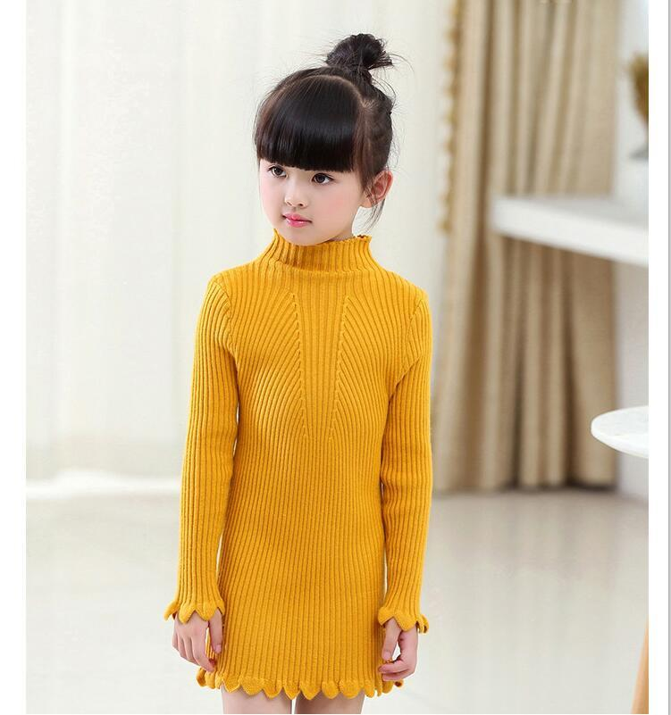3f65c5cd6ef Kids Girls Sweater Autumn Winter Warm Long Sleeve Toddler Girl Tops Pull  Fille Children Clothes Keep Warm Sweaters Fashion Free Toddler Sweater  Knitting ...