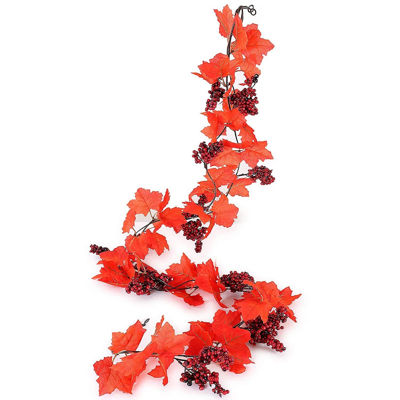 Großhandel 2 Stück Künstliche Blumen 6 6ft Pc Herbst Reben Mit