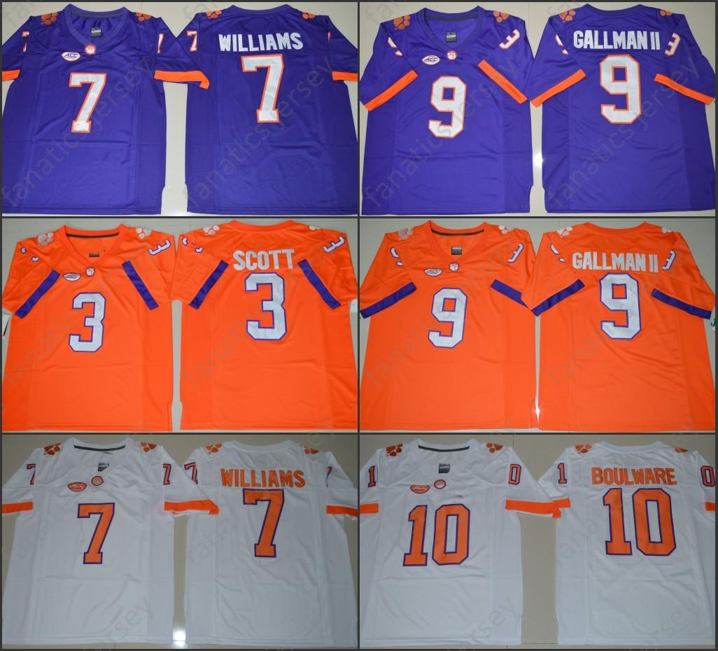 8f73e49e168 Clemson Tigers Jerseys NCAA College Football Artavis Scott Ben Boulware  Mike Williams Wayne Gallman Jersey 2018 Big Discount Fast Shipping Online  with ...