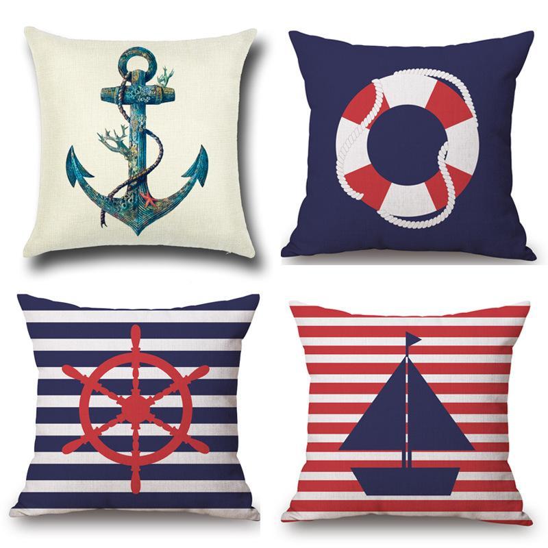 Mediterranean Pillow Set Navigation Mark Nordic Sofa Cushion Set Spot  Adequate Custom Decorative Throw Pillows Cushion Covers Pillow Cover Lawn  Chair ... 0df07a82d175