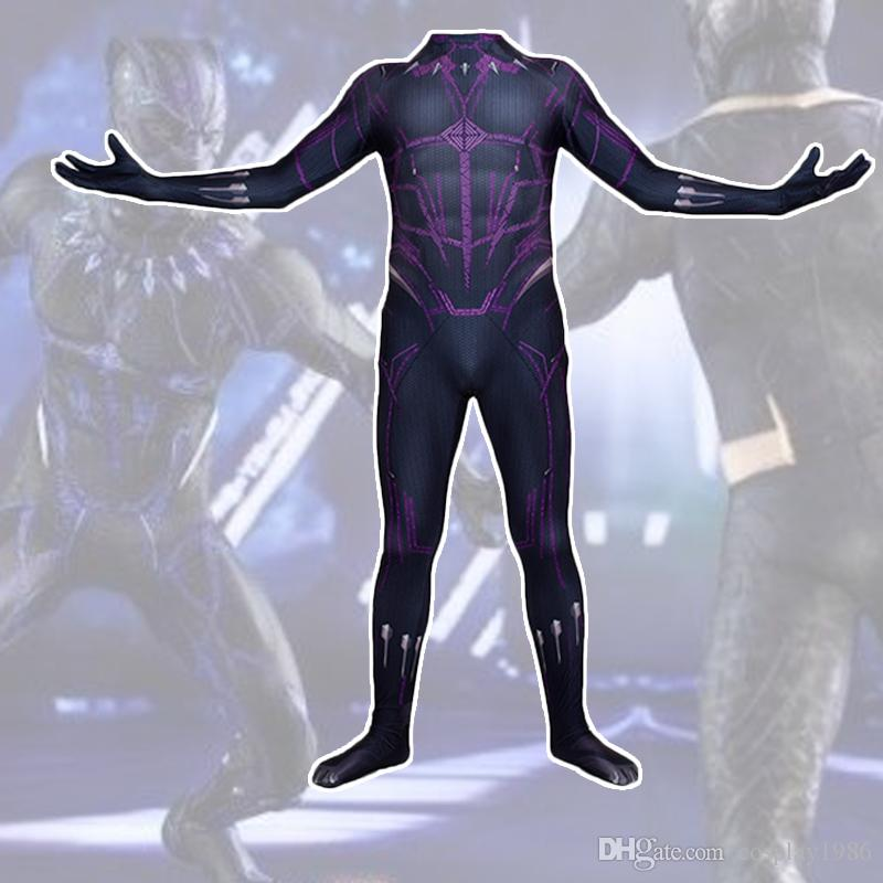 274df54575d7 2019 Adult Men Kids Boy Cosplay Flash Black Panther Hero Halloween Anime  Moive Seperhero Costume Zentai Jumpsuit Bodysuit Suit Plugsuit From  Cosplay1986