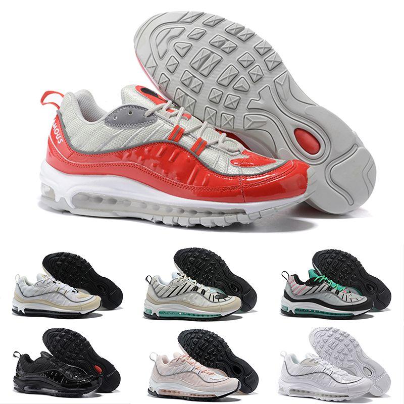 huge discount c9d6e ac2e0 Acquista Nike Air Max 98 Mens 98 Gundam X OG Blu Nero Uomo Scarpe Da Corsa  Sneakers Limited Sneakers Scarpa Sportiva Moda Da Corsa Runner Uomo Donna  Trainer ...