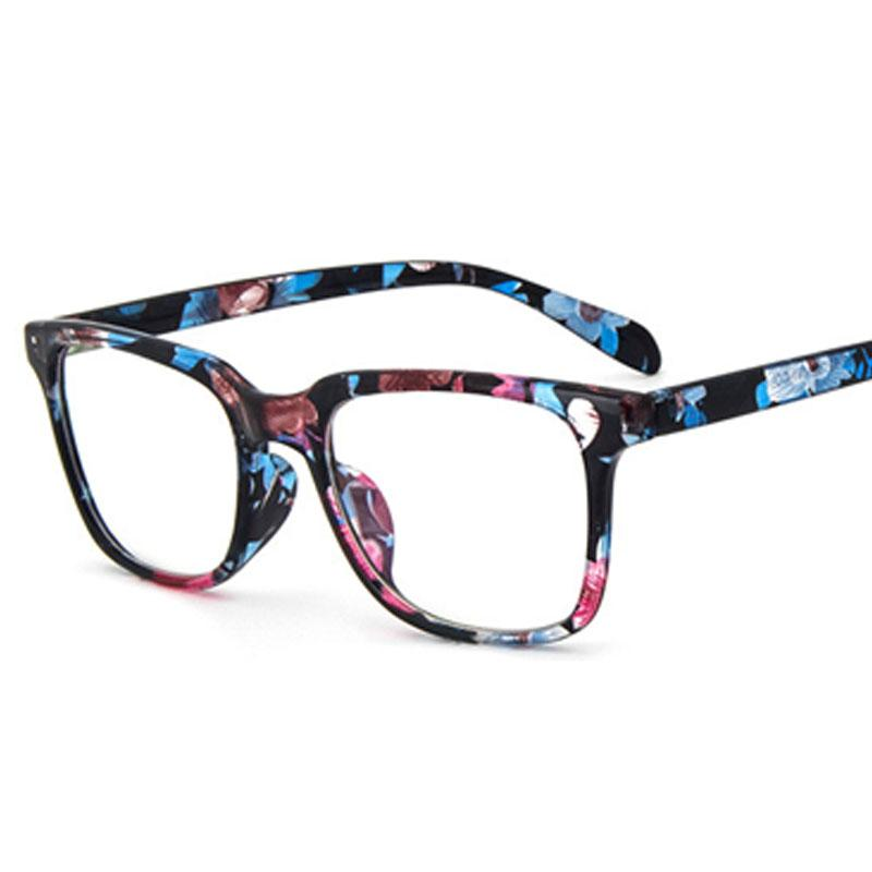 6ae2312707 New Floral Style Glasses Frame Men Women Retro Vintage Optical ...