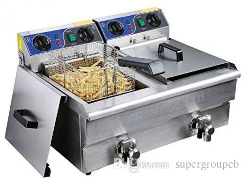 2018 New 20l 220v Commercial Deep Fryer Countertop Stainless Steel ...