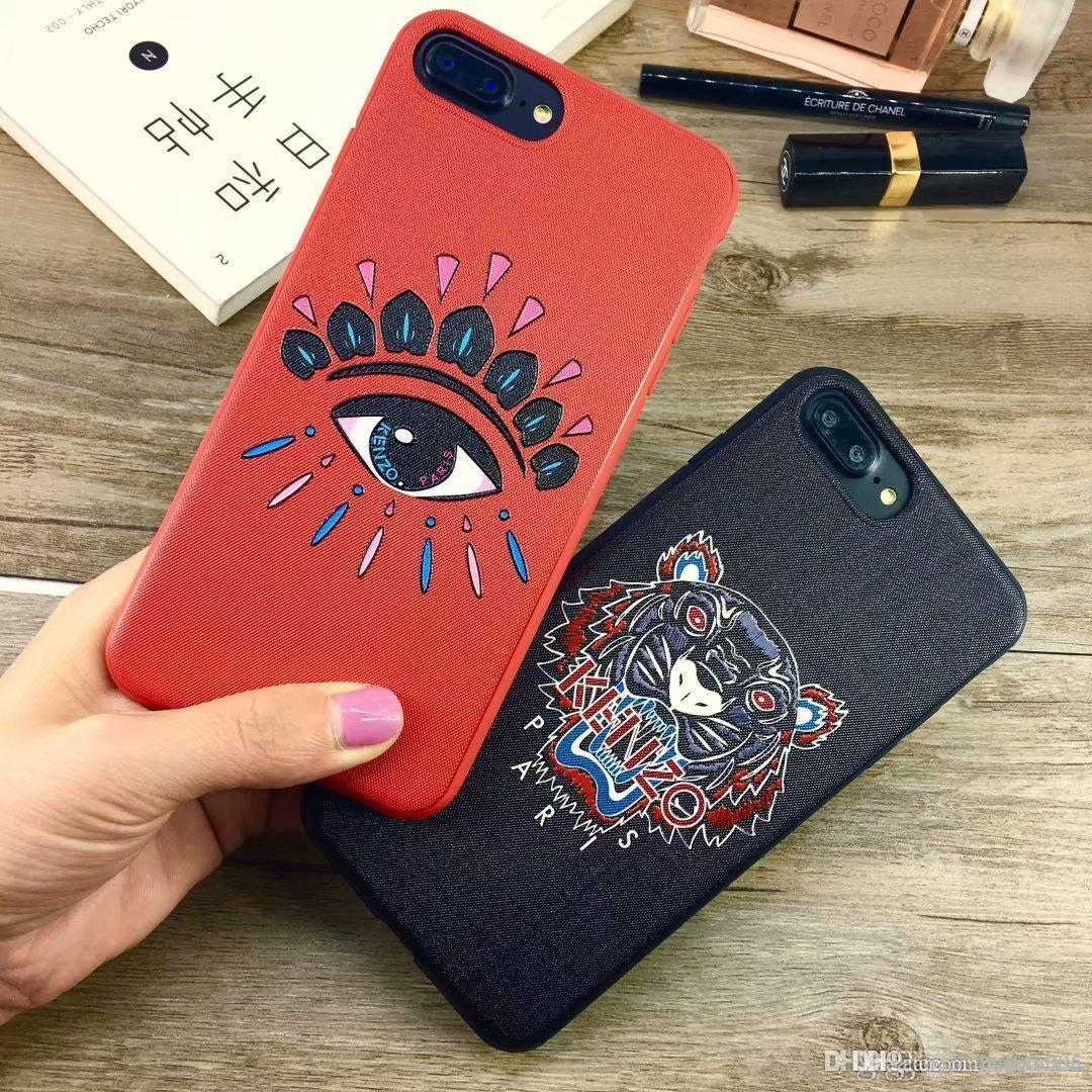 Marca tigre olhos phone case para iphone 6 s 6 6 plus tampa traseira para o iphone 7 7 plus 8 8 plus x xs xr xs max