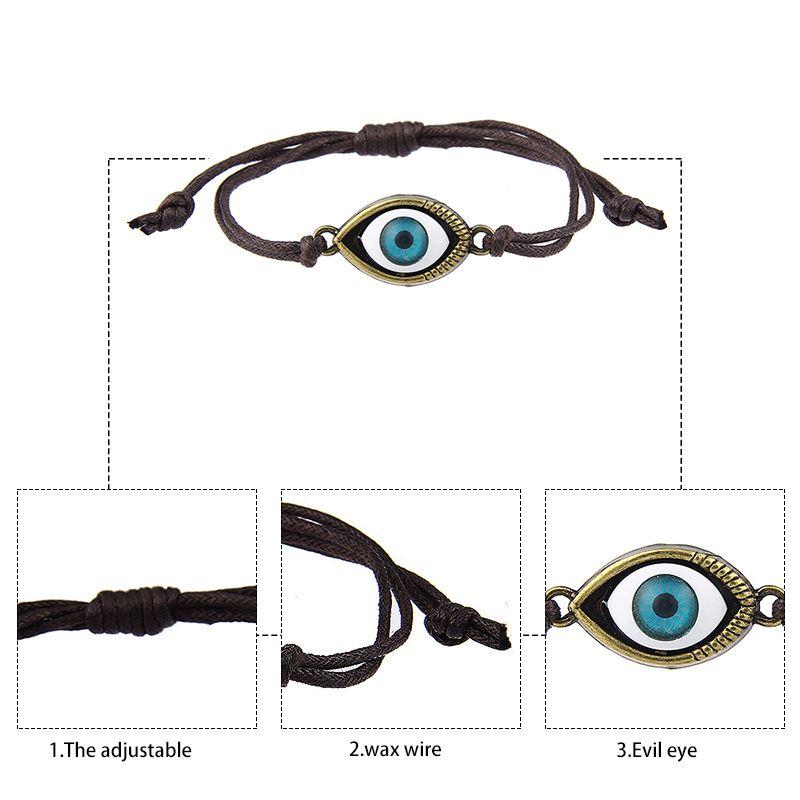 DIY Infinity Charm Bilezikler Antik Çapraz Bilezikler Deri Bilezikler çift kalp Türk gözler örgü bilezik Dokuma bilezik Takı