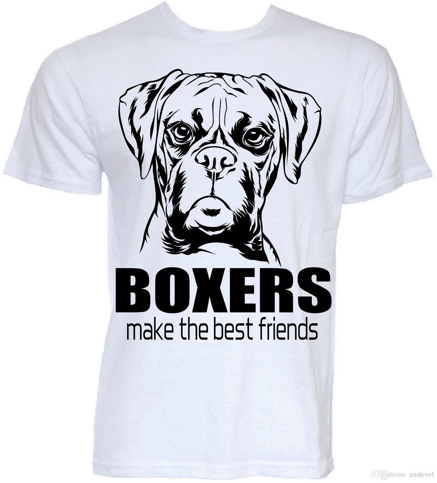 Grosshandel Boxer Dogs T Shirts Lustiges Cooles Neuheit Tierinhaber