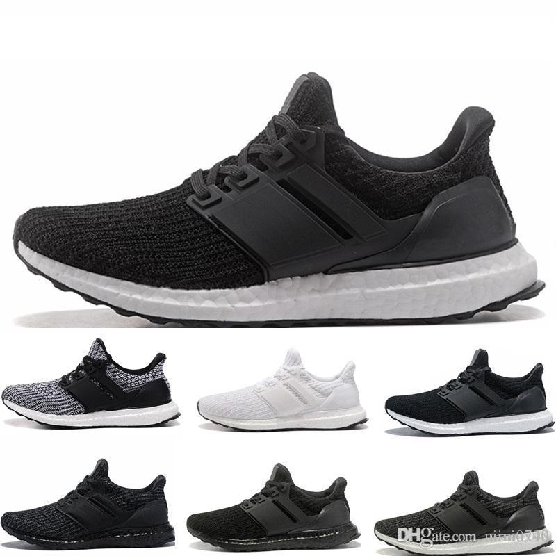 new concept 096b5 5dfa4 Compre Adidas Ultra Boost 3.0 4.0 Triple Blanco Y Negro Primeknit Oreo CNY  Azul Gris Hombres Mujeres Zapatos Informales Ultra Ultraboost Sport  Sneakers A ...