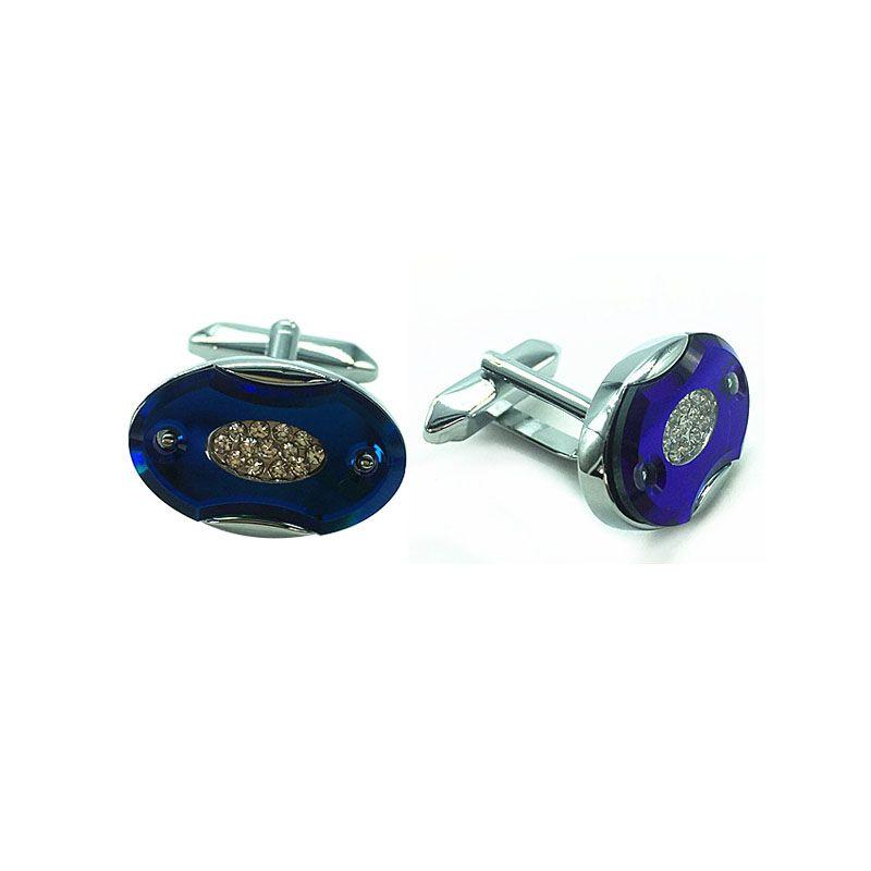 2018 yeni kristal süslemeleri fransız Kol Düğmesi gümüş metal moda Kol Düğmeleri Düğün Parti hediye Gentelmen Manşet Bağlantılar erkekler ...