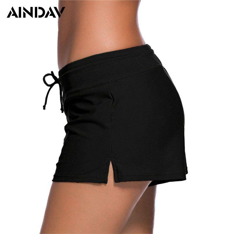 0563b716dde7e 2019 Brand New Women Bikini Bottoms Sexy Boxer Bikini Shorts Tankinis Sporty  Panty High Waist Swimwear Bathing Suit Beach Swim Briefs From Vanilla04, ...