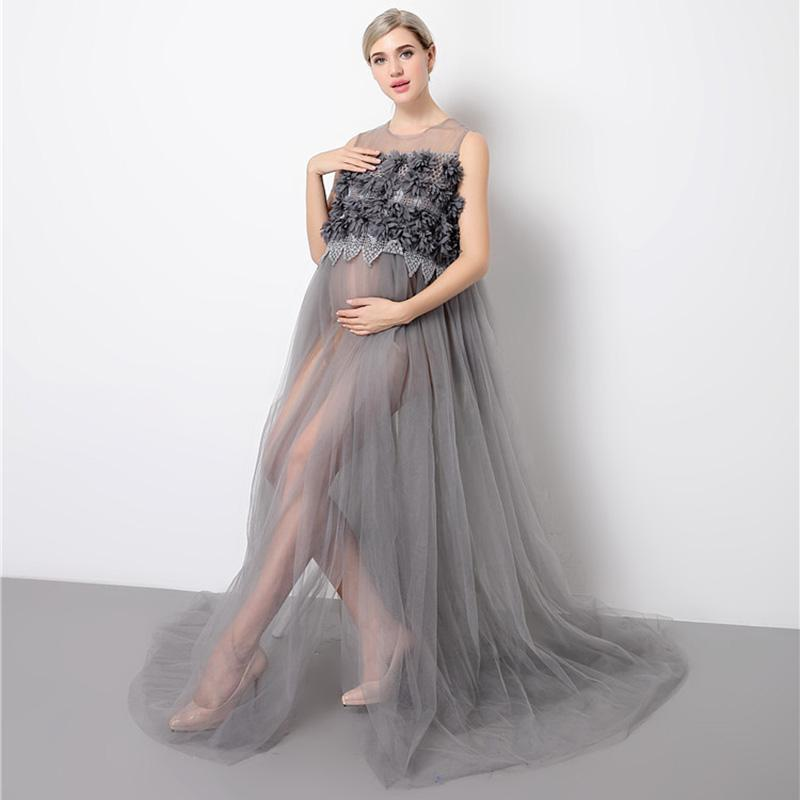 be227ff6541 2019 Maternity Dresses Lace Photo Shoot Wedding Party Elegant Long Pregnant  Women Dress For Baby Showers Maternity Photo Shooting From Paradise02