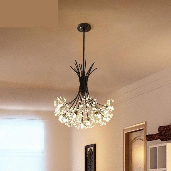 Regron Nordic Pendant Lights Modern Led Hanging Lights Crystal