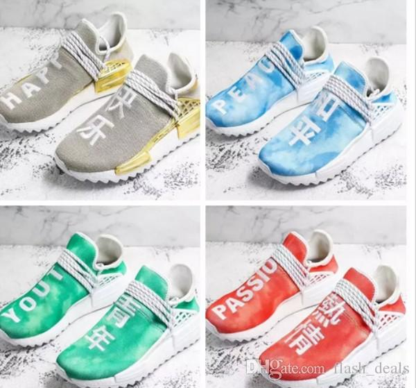 4dd5e829397ec 2018 NMD Human Race Men Running Shoes Peace Passion Happy Youth Heart  Pharrell Williams Nmds Human Races Mens Trainers Sneakers Size 36 47 Running  Trainers ...