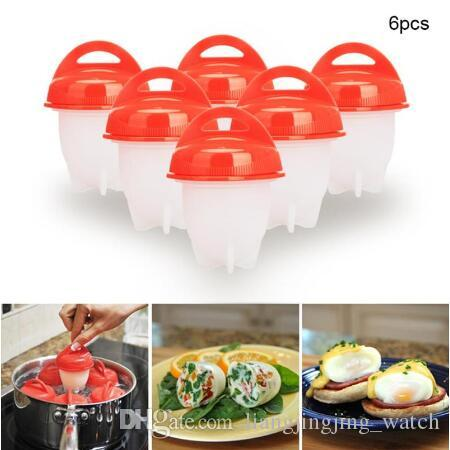 6pcs/set Silicone Egglettes Egg Cooker Hard Boiled Eggs Poachers Without The Shell For Egg Tools CCA9371 20set