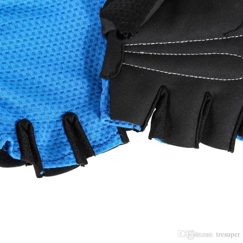 للجنسين عدم الانزلاق هلام الدراجات قفازات الرياضة سباق الدراجات نصف اصبع الرجال الصيف تنفس مطاطا قفازات guantes ciclismo