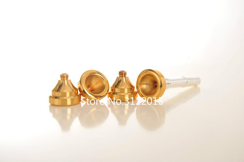 전문 소형 Bb 트럼펫 마우스 피스 / Set 7C 5C 3C 1C 금은 표면 순수 구리 악기 액세서리