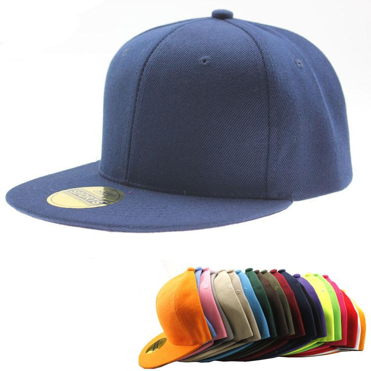 0b1b0d2aff3 Classic Snapback Caps Blank Skateboard Cap Adjustable Flatbill ...