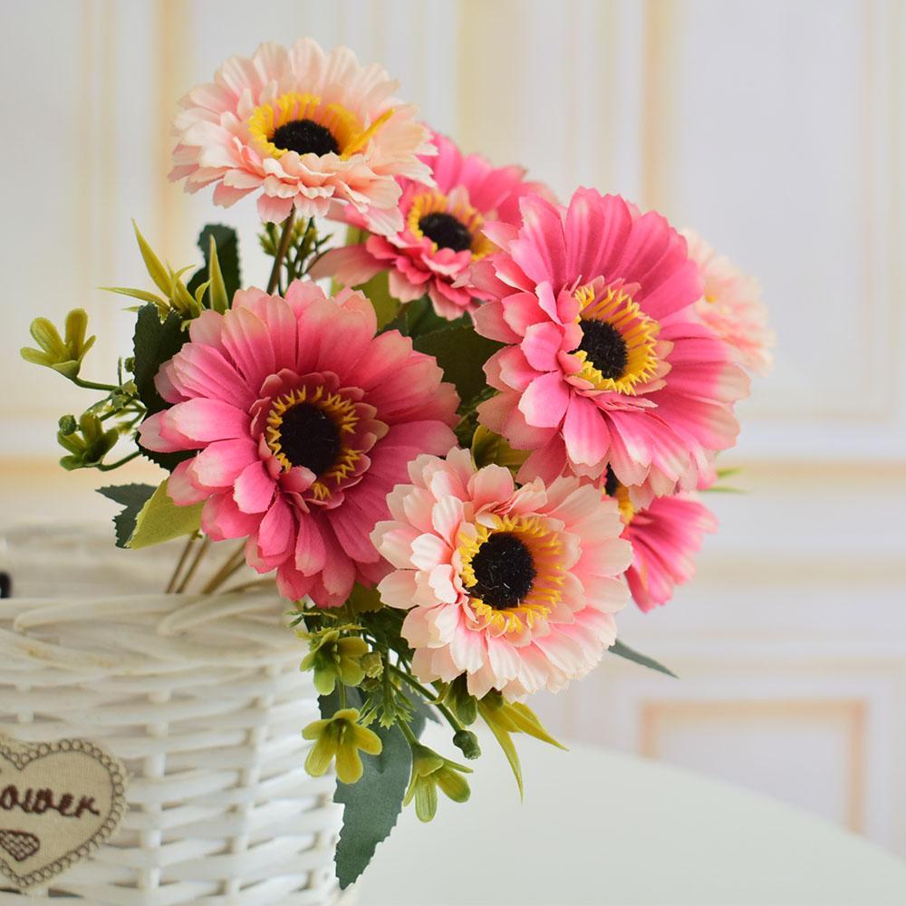 Acheter Fleurs Artificielles Marguerite De Soie Gerbera Pour La