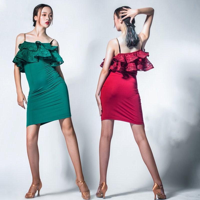Las Vestido De Verde Baile Rojo Latino Compre Mujeres qfP87S