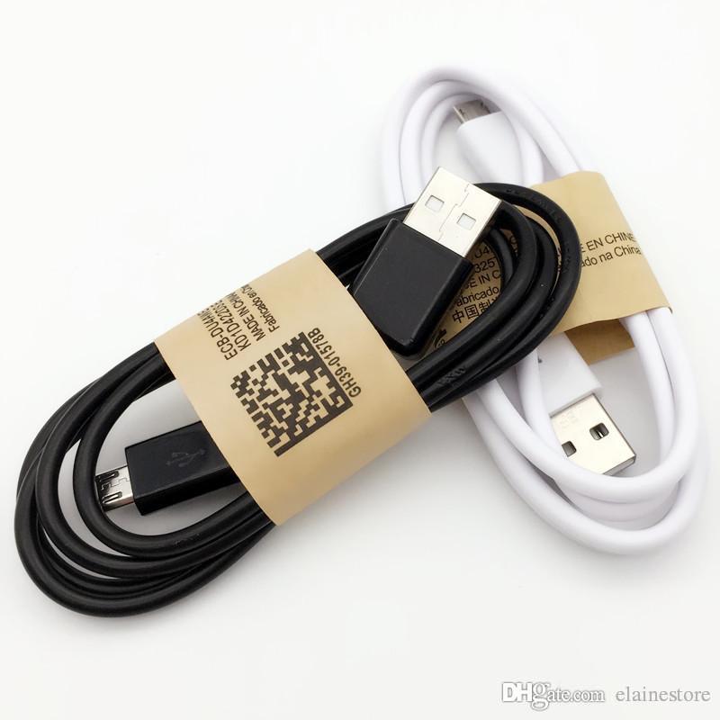 Cable de cargador de sincronización de datos usb de tela blanca de 1M / 3 pies para Samsung s7 S6 S6 S6 Cable S5