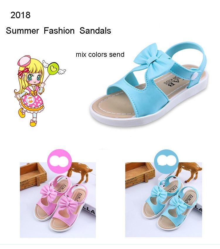 sports shoes a3b16 d6d70 Kinder Kinder Mädchen Sandalen Schuhe Sommer Mode Bowknot Mädchen flache  Prinzessin Schuhe Kinder Mädchen Schuhe Drop Shipping
