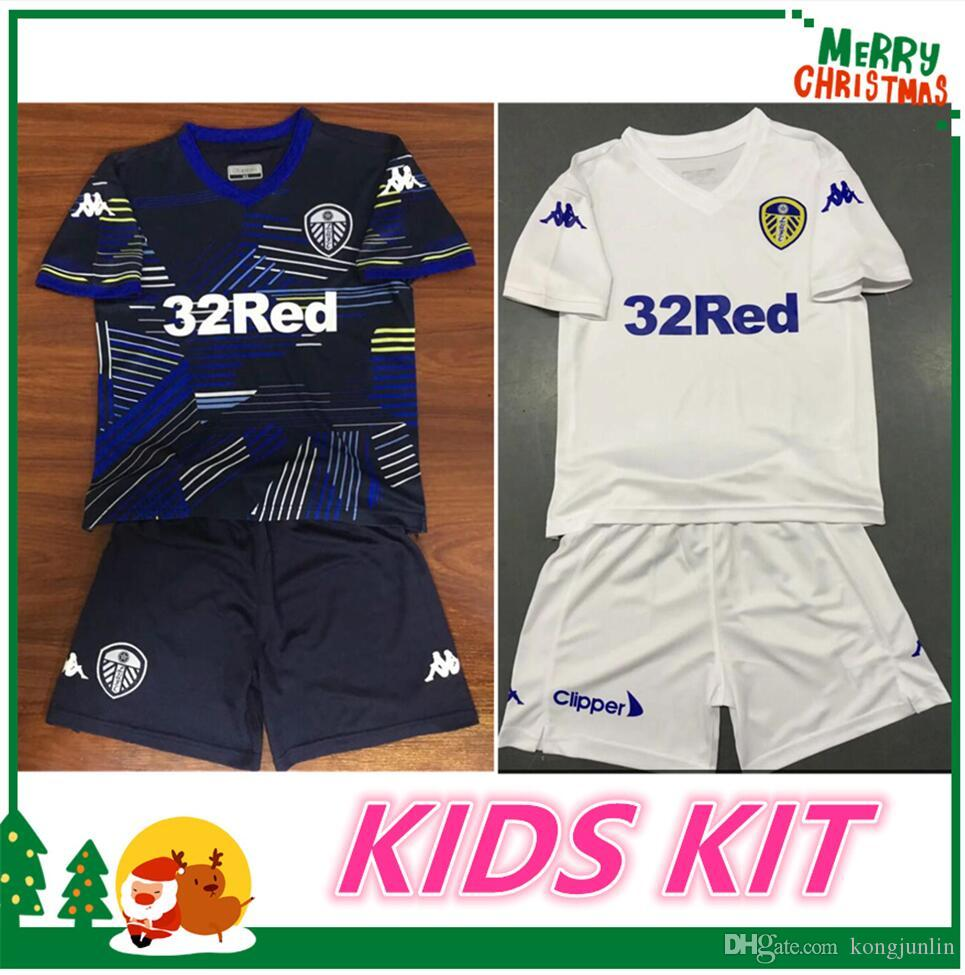 2019 18 19 Leeds United Kids Kits Jerseys 2018 Leeds Child Shirts ALIOSKI  JANSSON BAMFORD COOPER SAIZ ROOFE Boys Home Football Shirt From Kongjunlin 7a41caeac