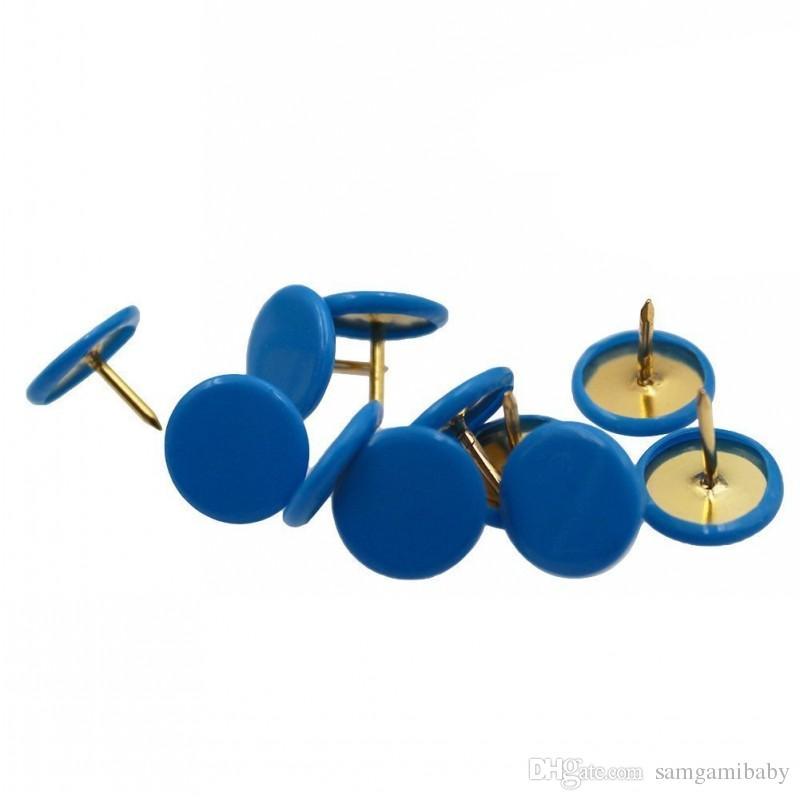 300 adet / takım Boyalı Heykel Itme Iğneler Thumb Meseleye Ev, ofis ve okul kullanımı sadece mavi renk
