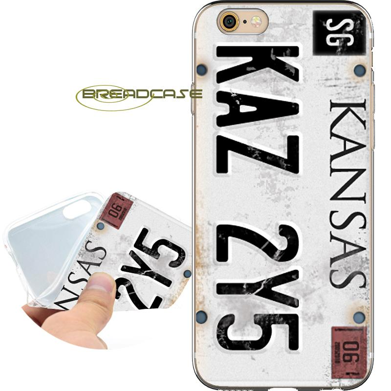 838012d97f Coque Supernatural License Plate Cases For IPhone 10 X 7 8 6S 6 Plus 5S 5  SE 5C 4S 4 IPod Touch 6 5 Clear Soft TPU Silicone Cover.