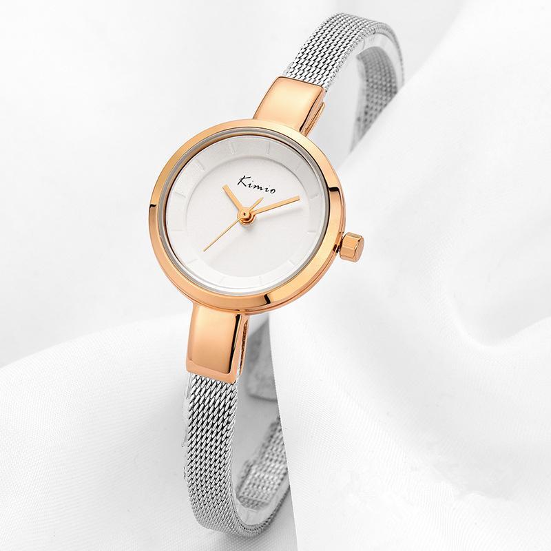 3f623f66024 Compre 2018 Marca De Luxo Mulheres Relógio Pulseira De Aço Inoxidável Elegante  Relógio De Pulso Rodada Amizade Relogio Feminino De Quartzo Relógio ...
