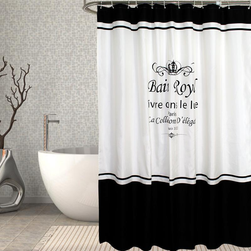 2019 New Spring Asian Polyester Shower Curtain Bathroom Screen Cloth Crown Flower Pattern Multiple Size Options From Caley 3038