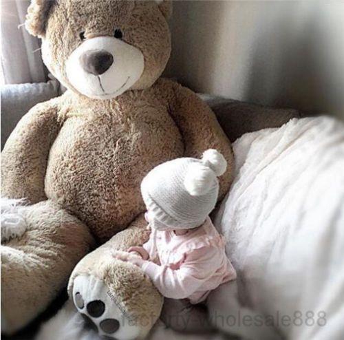7f4b47935 Compre 63    GIGANTE GRANDE GORDO PELUCHE URSO PELÚCIA Macio Animais  Brinquedos Boneca ENCHIDO Presente 160 Cm De Girlflowerdress