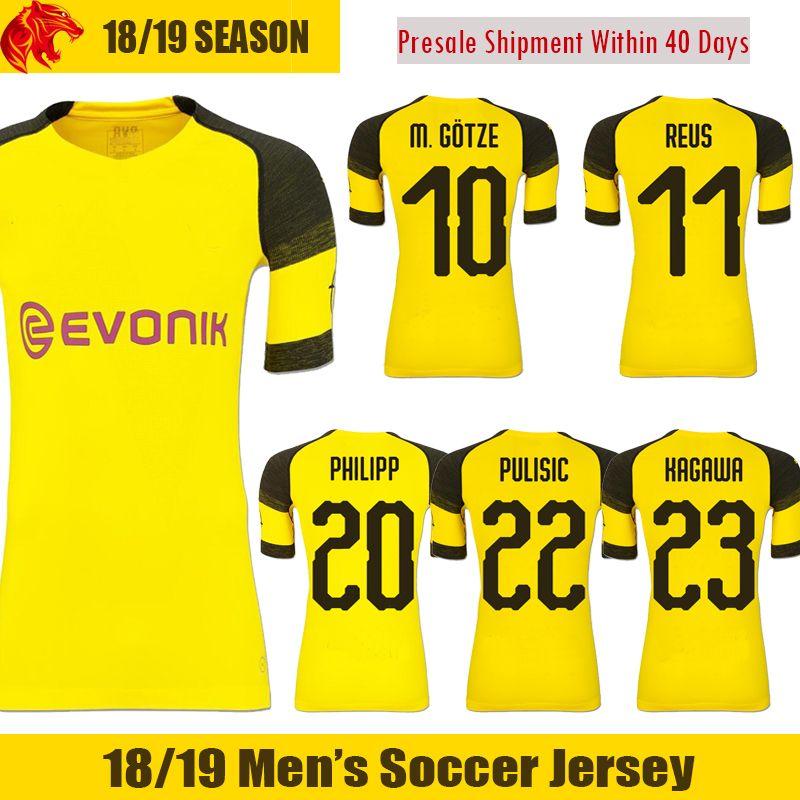 49db62a74b011 Compre 18 19 Borussia Dortmund Camisa De Futebol PHILIPP 2018 2019 KAGAWA  BATSHUAYI Camisa De Futebol PULISIC Borussia Dortmund REUS Camisa De  Futebol ...