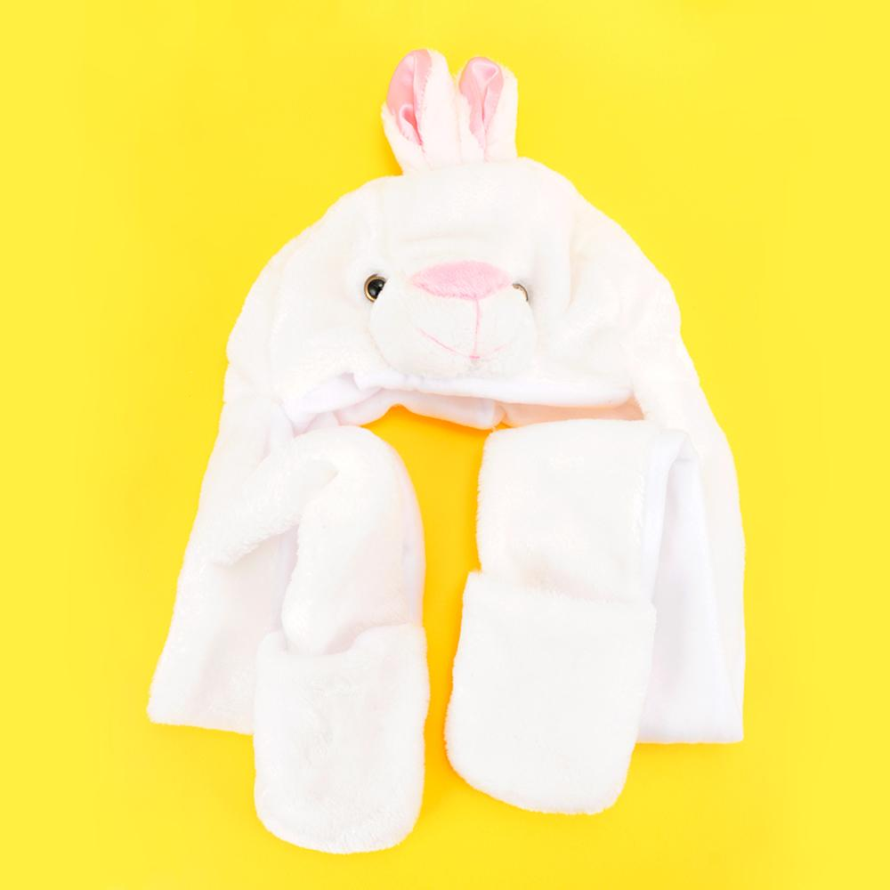 ae700348d19 2019 Newest Fashion 3D Ear Cute Rabbit Hat Adult Kids Baby Shake Move Bunny  Ears Animal Cosplay Costume Toy Birthday Gifts Hot From Beasy110