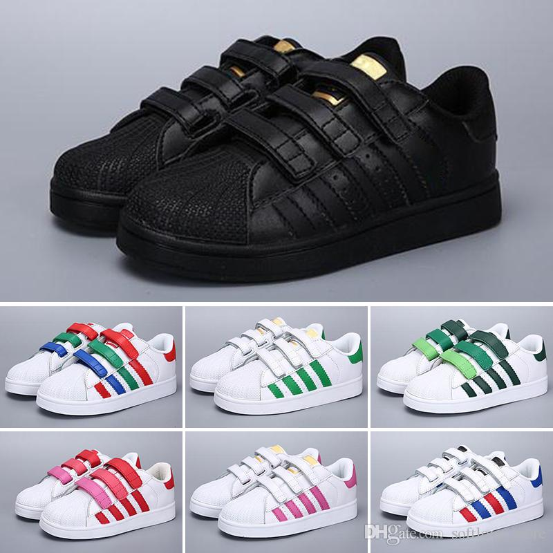 outlet store 99591 461af Compre Adidas 2018 NUEVA SNEAKERS STAN SMITH CASUAL LEATHER Calzado  Infantil SPORTS JOGGING SHOES PLANTILLAS CLASSIC Kid SHOES SUPERSTAR Para  Niños A  48.99 ...