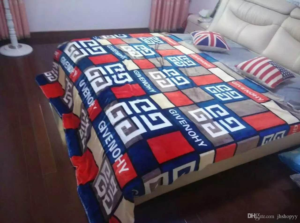 Luxury brand logo printed blankets flannel thick winter soft jpg 1280x950 Flannel  blankets 764760f49