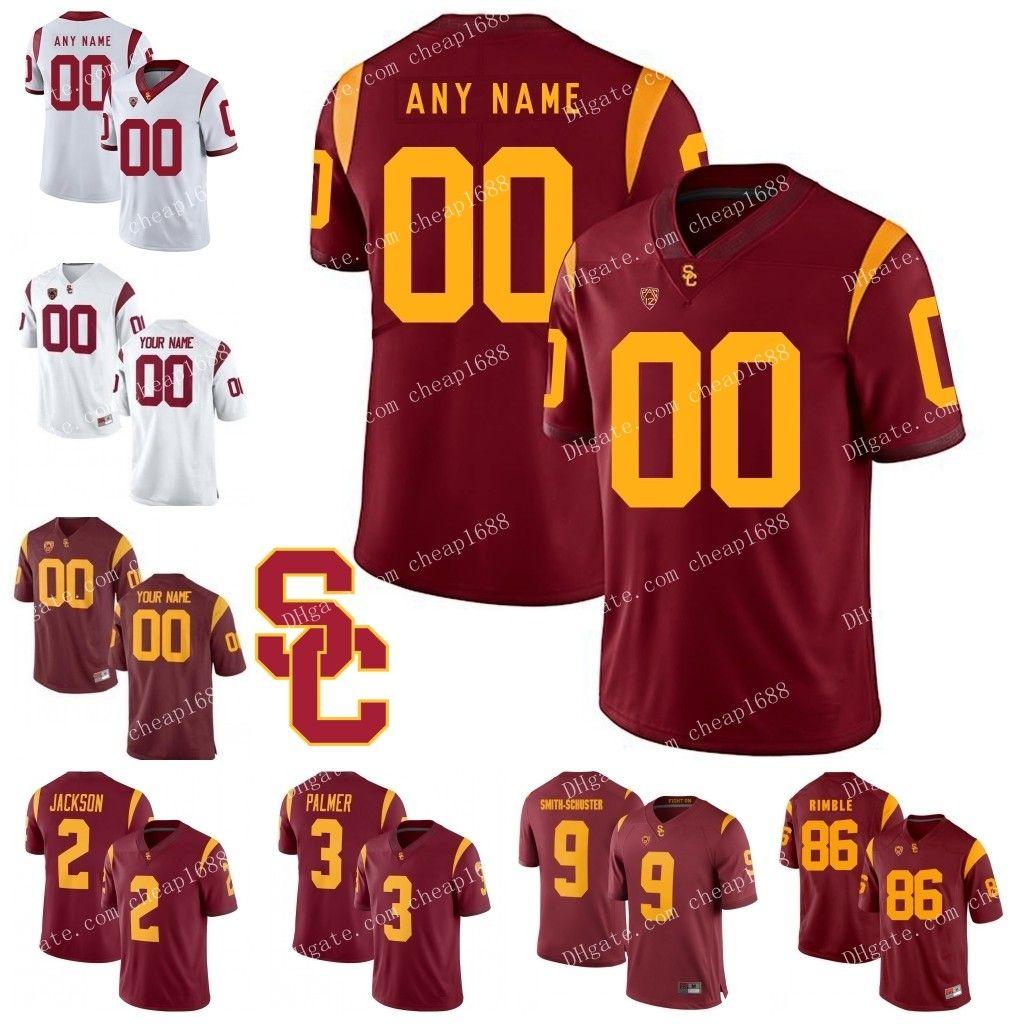 timeless design 31500 5fbc6 Custom USC Trojans 18 JT Daniels 28 Aca Cedric Ware 8 Amon-Ra St. Brown 19  Matt Fink Stitched Any Name Number College Football Jerseys