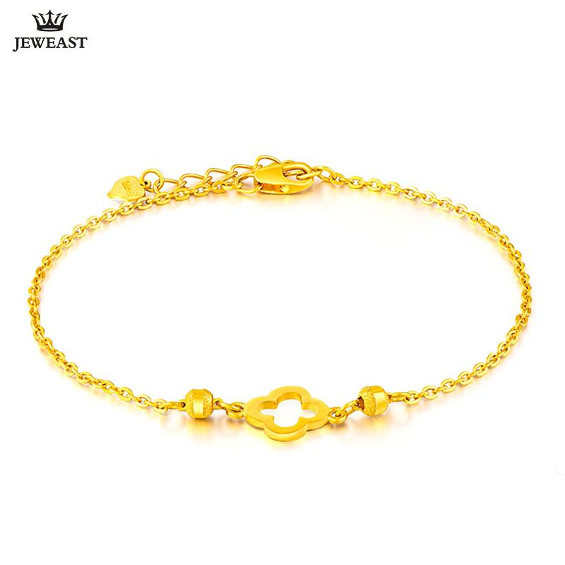 4b8606fe9a3 2019 24K Pure Gold Bracelet Real 999 Solid Gold Bangle Fashion Beautiful  Flowers Trendy Classic Party Fine Jewelry Hot Sell New 2018 From Beasy110,  ...